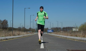... memorising routes he runs unaided and even competes in ultramarathons