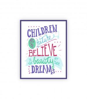 Preschool Teacher Quotes Teacher gift, hand lettered