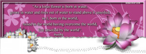 Pink Lotus Flower (Buddha quote) Facebook Cover