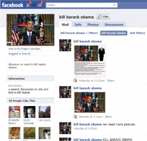 Another horrific Facebook page:
