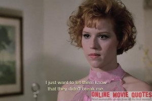 "Check out this quote from the popular 1986 movie "" Pretty In Pink ..."