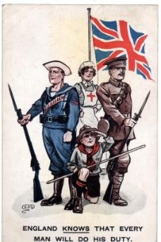 Great Britain Flag during WW1