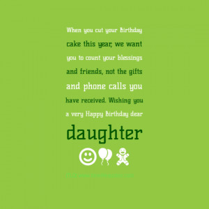 daughter on her birthday quotes quotesgram