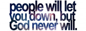 people will let you down facebook cover