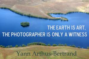 De uitspraak van Yann Arthus-Bertrand