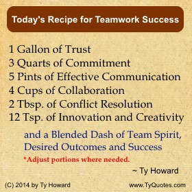 Ty Howard's Quotes on Teamwork and Team Building