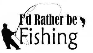 ... Sticker Decal Quote Vinyl Rather be Fishing Art Wall Quote Decal Vinyl