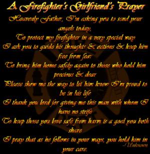Firefighter's Girlfriend Prayer