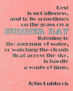 PRINTABLE: Summer Day Quote Printable