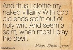 ... the devil.