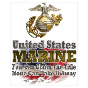 ... design featuring the usmc ega and the quote united states marine few