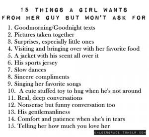 ... , girl, life, list, little things, love, relationship, text, wishlist