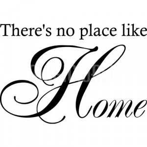 Home » There's No Place Like Home - Wall Quotes - Wall Decals ...