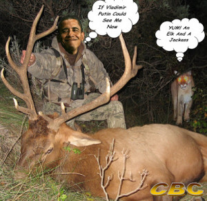Couldn't you just see the manchurian moonbat in the hunting woods? You ...