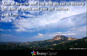 ... will get earth thrown in aim at earth and you get neither c s lewis