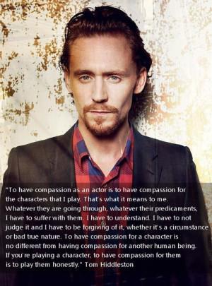 Tom Hiddleston quote