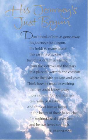 Sympathy Card - His Journey's Just Begun.jpg (128968 bytes)