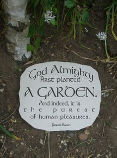 Garden sandstone stepping stone with cool gardening quote. For the ...