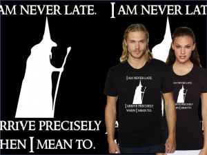 Gandalf Quotes A Wizard Is Never Late Gandalf shirt