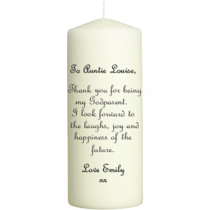 ... / Personalised Christening Gifts / Godparent Personalised Candle