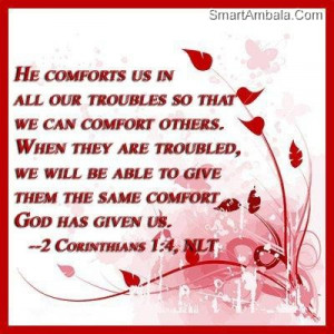 He Comforts Us In