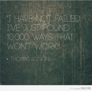 thomas edison on failure
