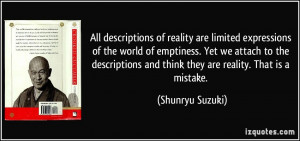 of reality are limited expressions of the world of emptiness ...