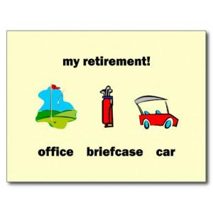 Funny golf retirement postcard
