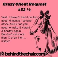 Hair Stylist Quotes Pinterest Salon humor on pinterest