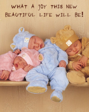 Nice new baby image with yellow skin babies and quote