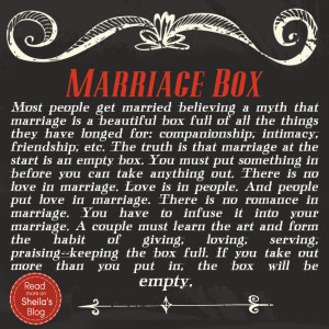 When I got married 13 years ago we were given a beautiful wooden box ...