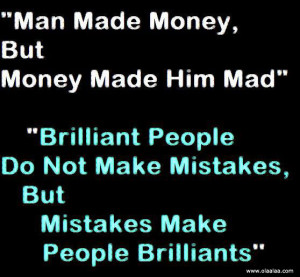 funny quotes thoughts mistakes money