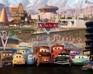 Download movie cars wallpaper, 'Cars 2'.