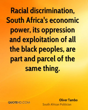 South African racism on steroids