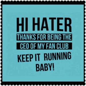 Hi Hater ...