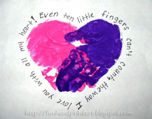 Handprint Heart with a Poem