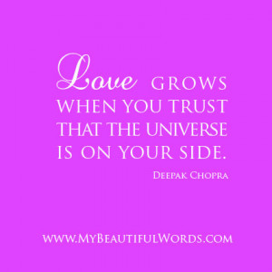 Love grows when you trust