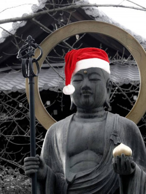 What are Buddhists doing over the xmas holidays?