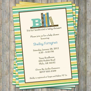 Baby Shower Invitations Wording To Bring A Book