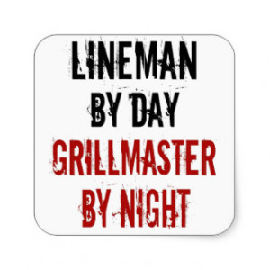 Grillmaster Lineman Square Sticker