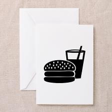 Fast food - Burger Greeting Cards (Pk of 10) for