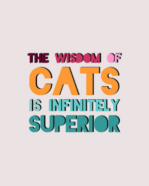 Cats Quote Print Charity Print by LitPrints on Etsy, $15.00