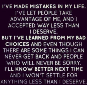 Not settling for anything less..