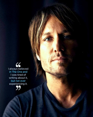 Keith Urban's quote about