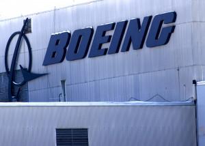 Boeing logo on the Aerospace Center building at Heath, Ohio