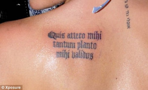 Thumbs up: Danielle Lloyd has the Latin phrase tattooed on her ...