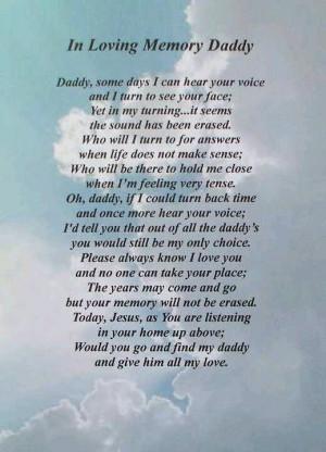 Miss my Daddy
