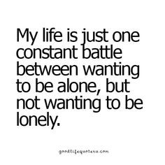 Alone vs Lonely More