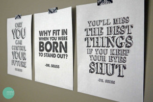 Free Printable Dr. Seuss Quote Posters @ mintedstrawberry.blogspot.com