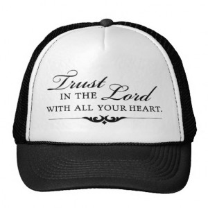 Trust in the Lord With All Your Heart Mesh Hat